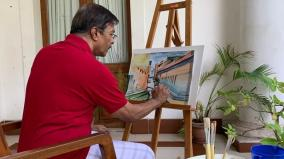 puduchery-ex-minister-painting-during-lockdown