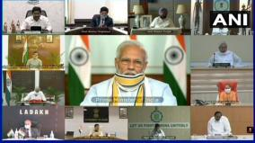 prime-minister-narendra-modi-s-5th-video-conference-meeting-with-chief-ministers-underway