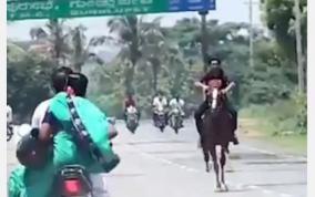 bjp-mla-son-roaming-in-horse
