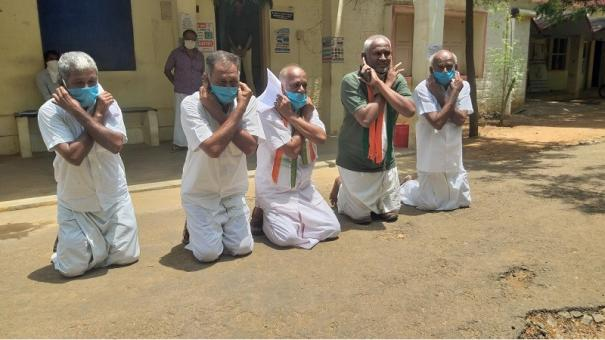 kovilpatti-congress-workers-conduct-rare-protest