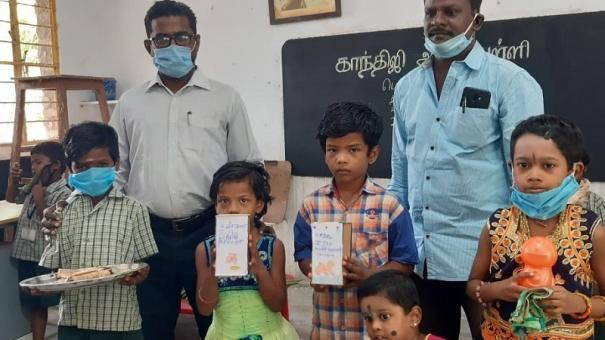 students-near-madurai-village-help-teacher-with-relief-fund