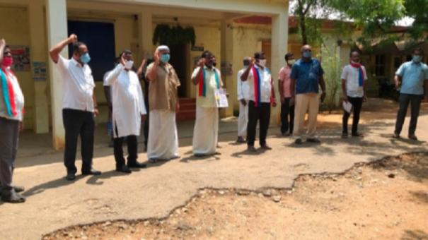 vck-protest-in-kovilpatti-seeking-opening-up-of-all-religious-worship-places