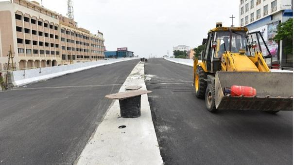 kalavasal-flyover-in-madurai-to-be-opened-in-june-2nd-week
