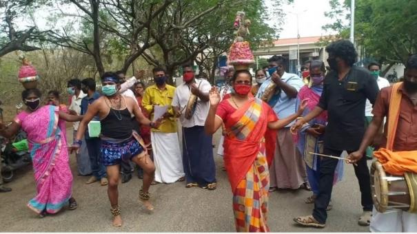 folklore-artistes-give-petition-to-dindigul-collector