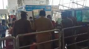passengers-officials-in-madurai-airport-exchange-war-of-words-over-isolation-issue