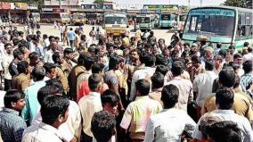 transport-corporation-staff-in-madurai-go-on-strike