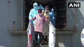 ins-jalashwa-carrying-685-indian-nationals-from-colombo-in-sri-lanka-arrives-at-v-o-chidambaranar-port-in-tuticorin