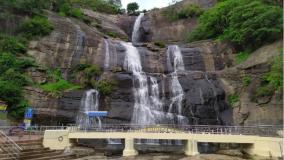 courtallam-falls-look-desserted-due-to-ban-on-tourism
