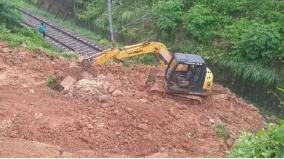 kanyakumari-rail-tracks-damaged-by-land-slide