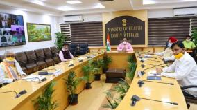 union-health-minister-dr-harsh-vardhan-holds-meeting-with-group-of-ministers
