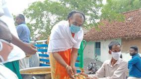 lockdown-chidambaram-priest-offer-free-food