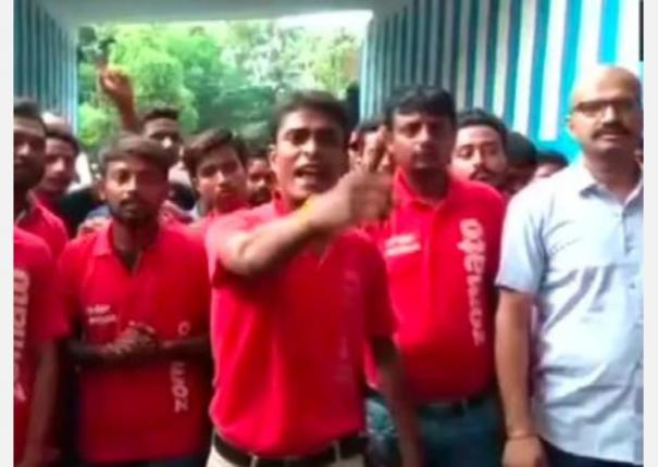 ready-to-starve-zomato-employees-burn-company-t-shirts-protest-against-chinese-investment