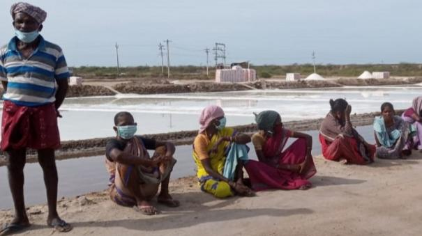 encroachment-in-tutucorin-removed-salt-pan-workers-strike