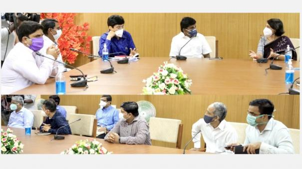 central-medical-team-arrived-chennai-inspection-in-chennai-covid-centers-hospitals-consultation-with-10-district-collectors