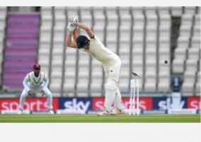 england-and-west-indies-frustrated-by-rain-after-teams-take-a-knee-in-show-of-solidarity-for-black-lives-matter