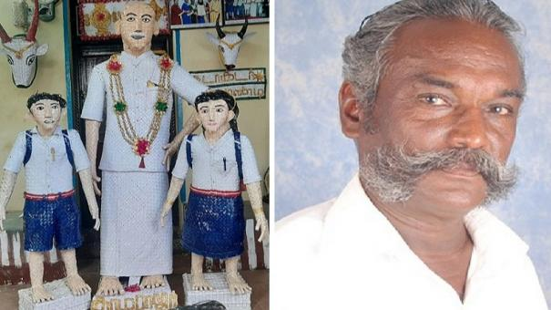 kamarajar-statue-made-out-of-palm-leaves-a-tribute-on-his-birthday