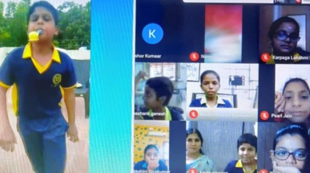 madurai-private-school-conducts-sports-meet-online