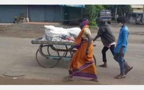 wife-use-pull-cart-for-carry-husband-dead-body