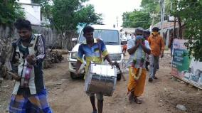 an-enthusiastic-welcome-near-aranthangi-to-those-who-have-recovered-from-corona-and-returned-home