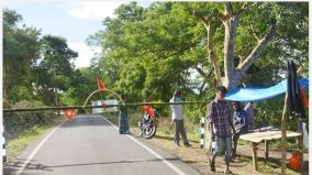 corona-check-post-aware-bokapuram-tribes