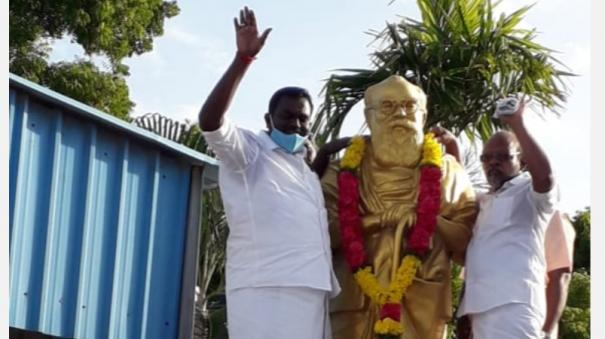 former-mla-vedaratnam-has-returned-to-the-dmk-from-the-bjp
