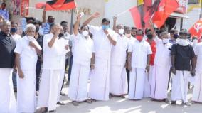 protest-in-madurai-condemning-defamation-of-nallakannu