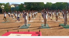 yoga-training-through-the-website-to-avoid-police-stress-participation-from-the-commissioner-of-police-to-the-top-police