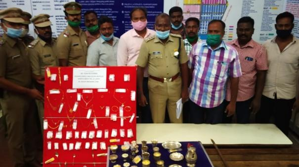 chennai-robber-arrested-in-pondicherry-seizure-of-gold-jewelery-and-silver-items-worth-rs-22-lakh