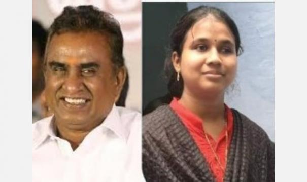 minister-sb-velumani-congratulates-the-disabled-student-who-passed-the-upsc-examination