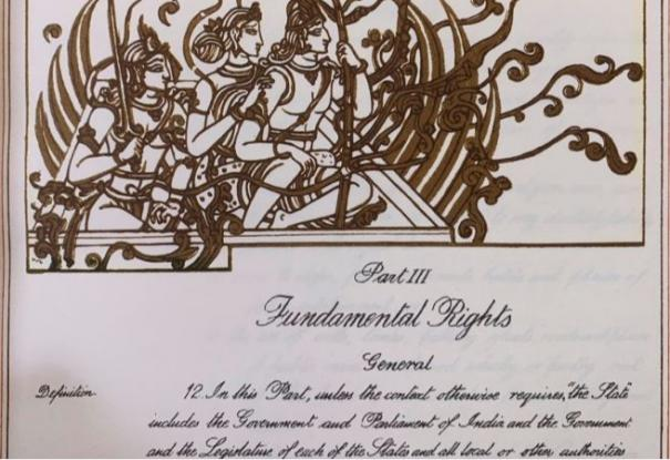 the-constitution-of-india-has-sketch-of-lord-ram-sita-and-laxman-ravi-shankar-prasad-tweets-image