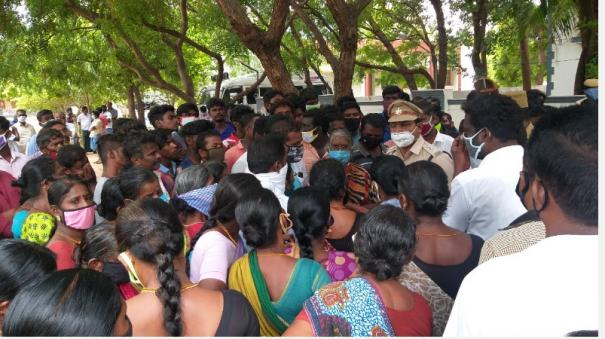 kovilpatti-youth-murder-relatives-besiege-dsp-office-3-arrested