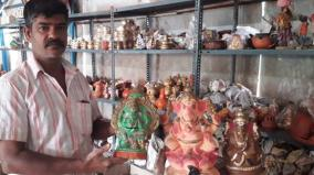 vinayagar-statue-makers-suffer-the-brunt-of-curfew-await-last-minute-orders