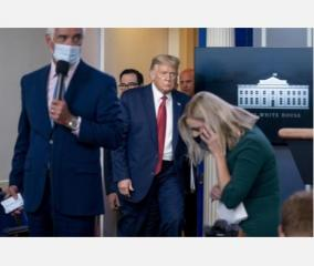 trump-abruptly-escorted-from-briefing-after-shooting-near-white-house