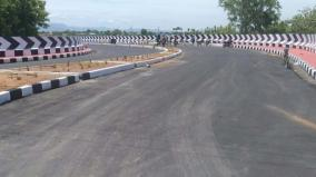 rs-384-crores-used-to-construct-four-ways-road-across-vaigai