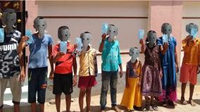 students-wearing-elephant-masks-pledge-acceptance-at-kovilpatti-on-the-occasion-of-world-elephant-day