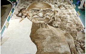 gandhi-drawing-using-coffee-powder