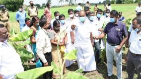 minister-r-b-udayakumar-inspects-farm-lands-with-officials
