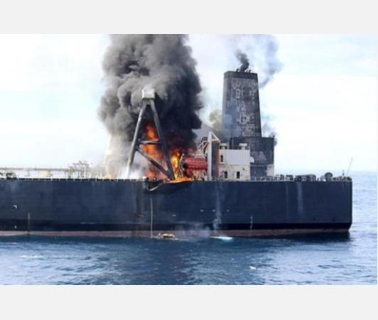 indianoil-chartered-tanker-catches-fire-off-sri-lanka