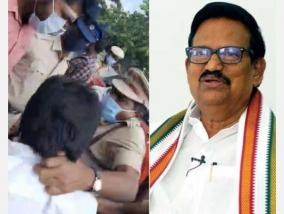 attack-on-congress-executive-action-should-be-taken-against-the-assistant-commissioner-of-maduravayal-ks-alagiri-s-demand