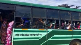 tenkasi-tirunelveli-route-buses-operated-with-uncontrollable-crowd