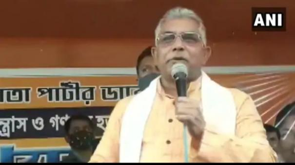 corona-is-over-bengal-bjp-chief-dilip-ghosh-declares-at-rally