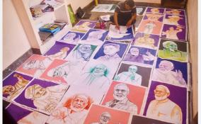 school-student-drawing-the-looks-of-prime-minister-modi