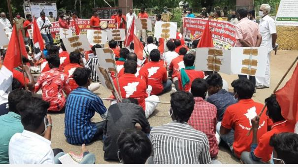 tamil-jobs-for-tamils-3rd-day-protest-in-front-of-ponmalai-workshop
