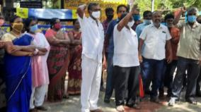 bsnl-workers-stage-protest-in-tutucorin