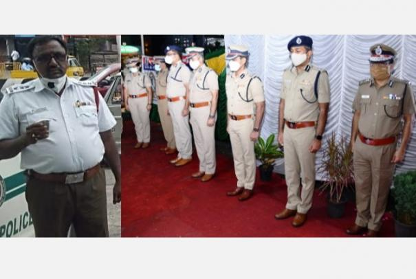 traffic-inspector-ri-died-of-corona-infection-as-assistant-commissioner-promoted-tribute-to-dgp-senior-police-officers