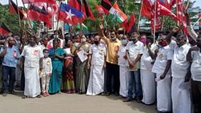 dmk-protest-in-madurai-against-farmer-s-act