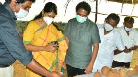 mp-s-kanimozhi-and-su-venkatesan-inspect-in-sivakalai-aaadhichanallur
