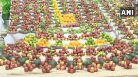3-000-kg-apples-displayed-at-ahmedabad-temple-meant-for-covid-patients