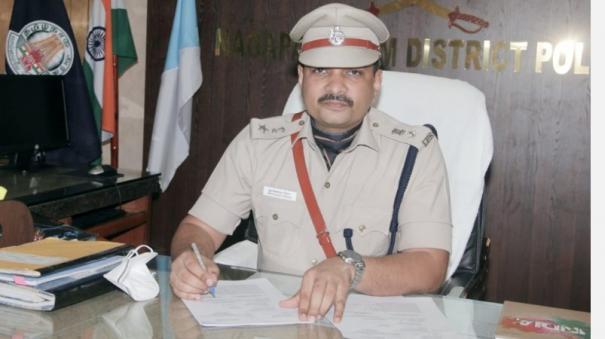 nagai-district-superintendent-of-police-om-prakash-meena-in-charge