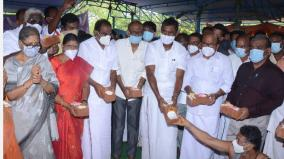 mani-mandapam-vk-palanisamy-at-a-cost-of-rs-1-crore-minister-sp-velumani-laid-the-foundation-stone
